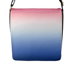 Red And Blue Flap Messenger Bag (l)