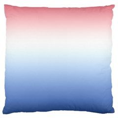 Red And Blue Large Flano Cushion Case (two Sides)