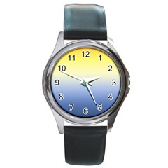 Sun Goes Down Round Metal Watch