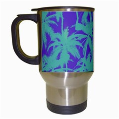 Electric Palm Tree Travel Mugs (white)