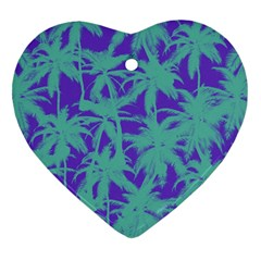 Electric Palm Tree Heart Ornament (two Sides)