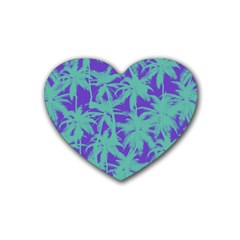 Electric Palm Tree Rubber Coaster (heart)