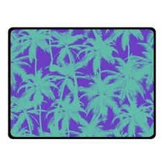 Electric Palm Tree Fleece Blanket (small)