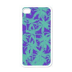 Electric Palm Tree Apple Iphone 4 Case (white)