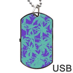 Electric Palm Tree Dog Tag Usb Flash (one Side)