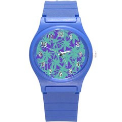 Electric Palm Tree Round Plastic Sport Watch (s)