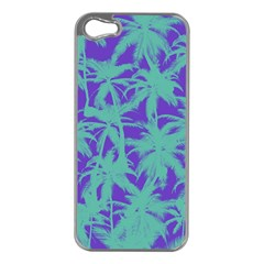Electric Palm Tree Apple Iphone 5 Case (silver)
