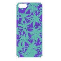 Electric Palm Tree Apple Iphone 5 Seamless Case (white)