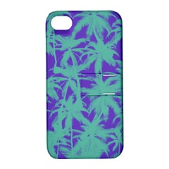 Electric Palm Tree Apple Iphone 4/4s Hardshell Case With Stand