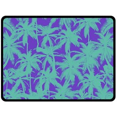 Electric Palm Tree Double Sided Fleece Blanket (large)