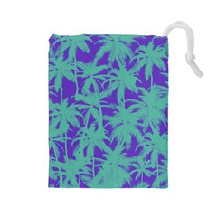 Electric Palm Tree Drawstring Pouches (large)