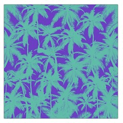 Electric Palm Tree Large Satin Scarf (square)