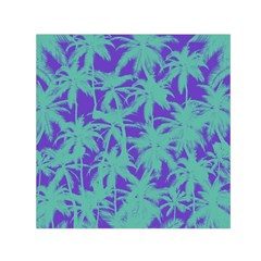 Electric Palm Tree Small Satin Scarf (square)
