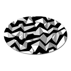Polynoise Lowpoly Oval Magnet