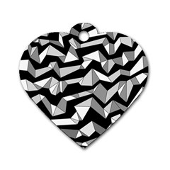 Polynoise Lowpoly Dog Tag Heart (one Side)