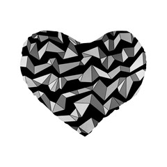 Polynoise Lowpoly Standard 16  Premium Heart Shape Cushions