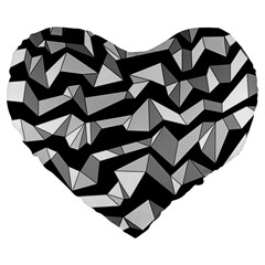 Polynoise Lowpoly Large 19  Premium Flano Heart Shape Cushions