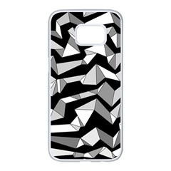 Polynoise Lowpoly Samsung Galaxy S7 Edge White Seamless Case