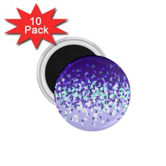 Purple Disintegrate 1 75  Magnets (10 Pack)