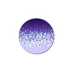 Purple Disintegrate Golf Ball Marker (10 Pack)
