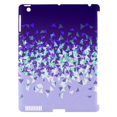 Purple Disintegrate Apple Ipad 3/4 Hardshell Case (compatible With Smart Cover)