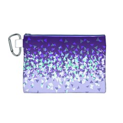 Purple Disintegrate Canvas Cosmetic Bag (m)
