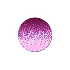 Pink Disintegrate Golf Ball Marker (10 Pack)