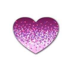 Pink Disintegrate Heart Coaster (4 Pack)