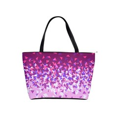 Pink Disintegrate Shoulder Handbags