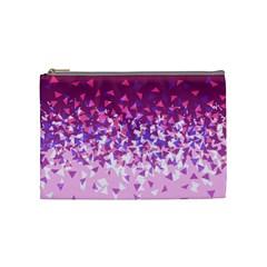Pink Disintegrate Cosmetic Bag (medium)