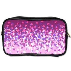 Pink Disintegrate Toiletries Bags 2 Side