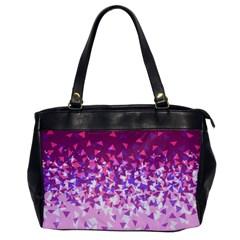 Pink Disintegrate Office Handbags
