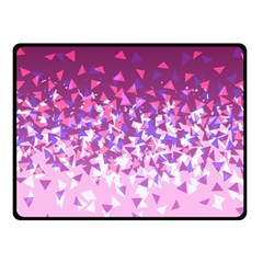 Pink Disintegrate Fleece Blanket (small)