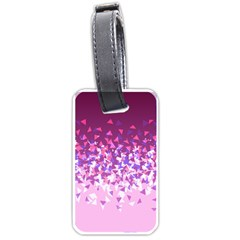 Pink Disintegrate Luggage Tags (one Side)