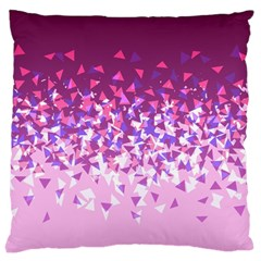 Pink Disintegrate Large Cushion Case (two Sides)