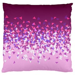 Pink Disintegrate Large Flano Cushion Case (one Side)