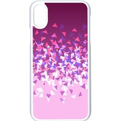Pink Disintegrate Apple Iphone X Seamless Case (white)