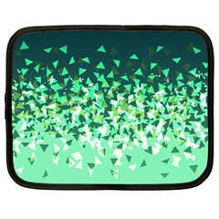 Green Disintegrate Netbook Case (large)