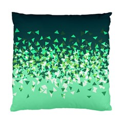 Green Disintegrate Standard Cushion Case (two Sides)