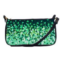 Green Disintegrate Shoulder Clutch Bags