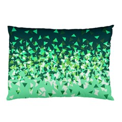 Green Disintegrate Pillow Case (two Sides)