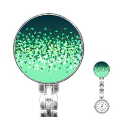 Green Disintegrate Stainless Steel Nurses Watch