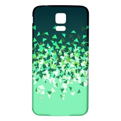 Green Disintegrate Samsung Galaxy S5 Back Case (white)