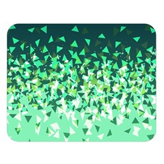 Green Disintegrate Double Sided Flano Blanket (large)