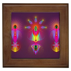 Abstract Bright Colorful Background Framed Tiles