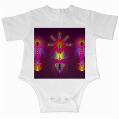 Abstract Bright Colorful Background Infant Creepers