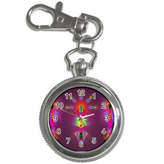 Abstract Bright Colorful Background Key Chain Watches