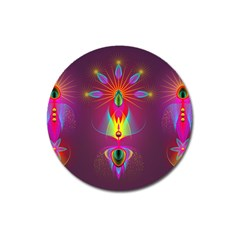 Abstract Bright Colorful Background Magnet 3  (round)