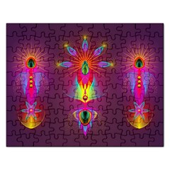 Abstract Bright Colorful Background Rectangular Jigsaw Puzzl