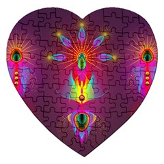 Abstract Bright Colorful Background Jigsaw Puzzle (heart)
